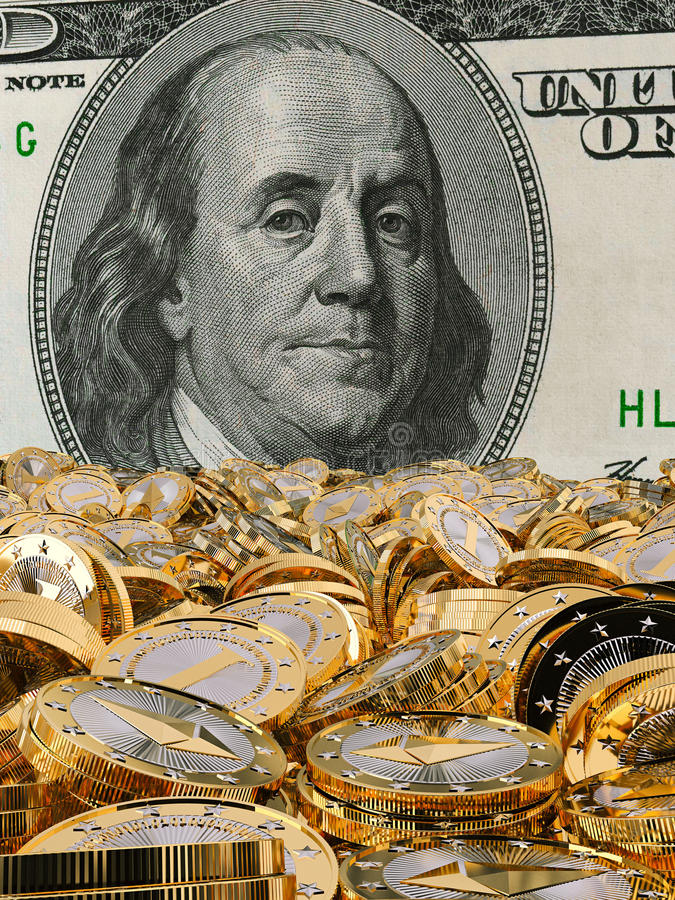 Ethereum - Virtueel Geld stock afbeeldingen