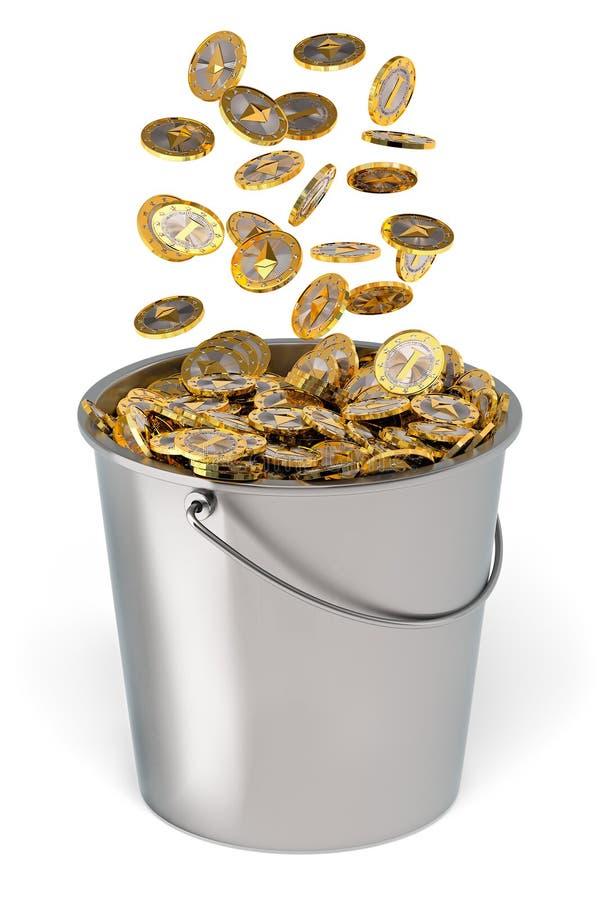 Ethereum - Virtueel Geld royalty-vrije stock afbeeldingen