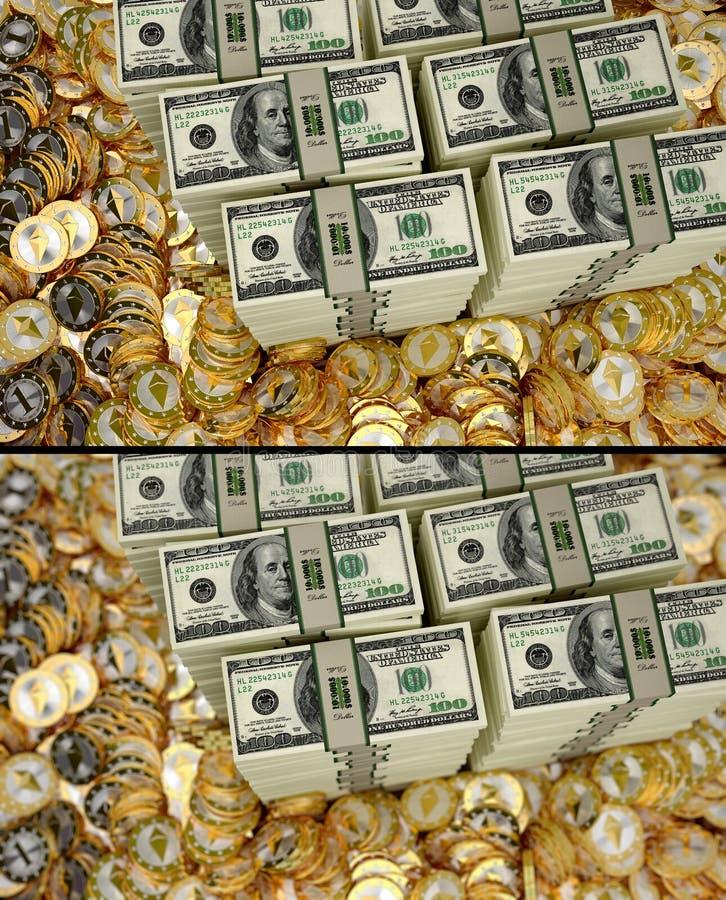 Ethereum - Virtueel Geld royalty-vrije stock fotografie