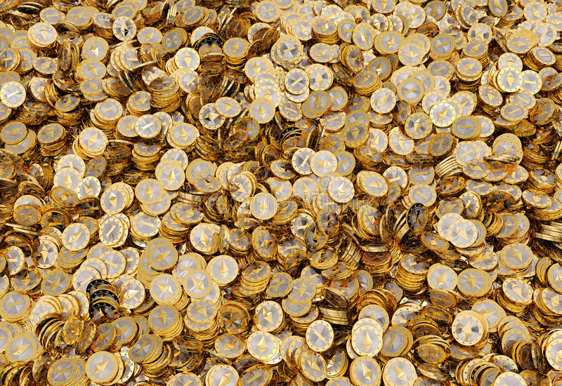 Ethereum - virtuelles Geld lizenzfreie abbildung