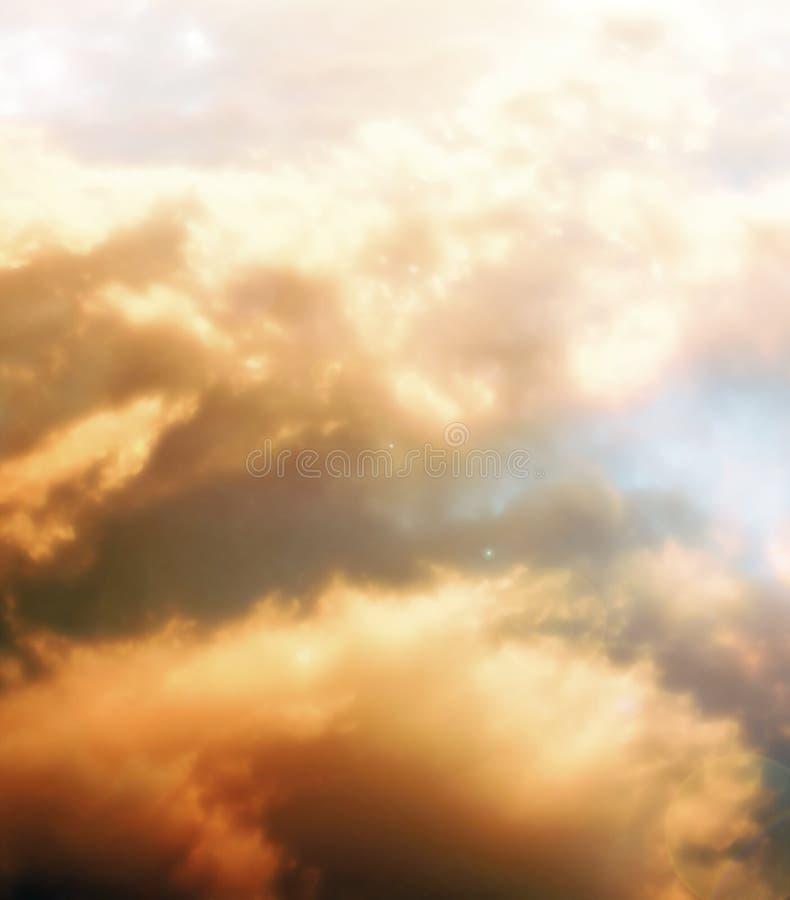 Etherische wolken stock foto
