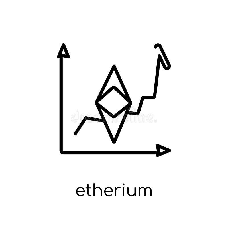 etheriumpictogram In modern vlak lineair vectoretheriumpictogram  vector illustratie