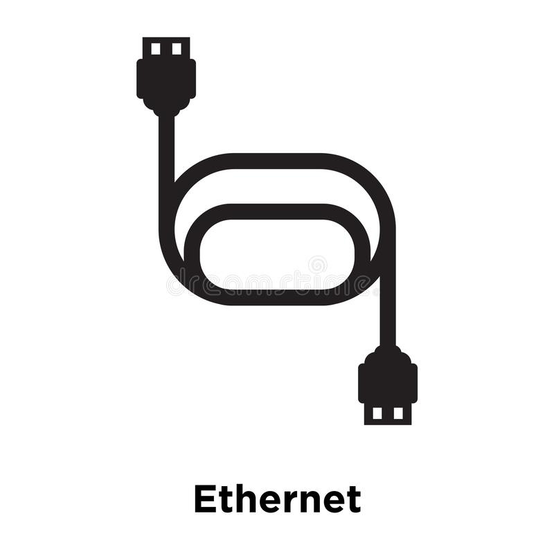 Ethernet icon vector isolated on white background, logo concept vector illustration