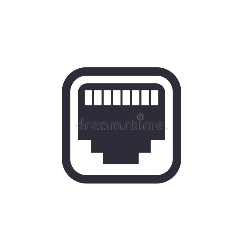 Ethernet, network port icon royalty free illustration