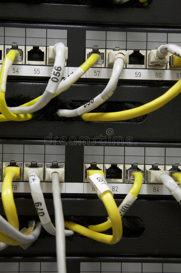 Ethernet Patch Panel Stock Images