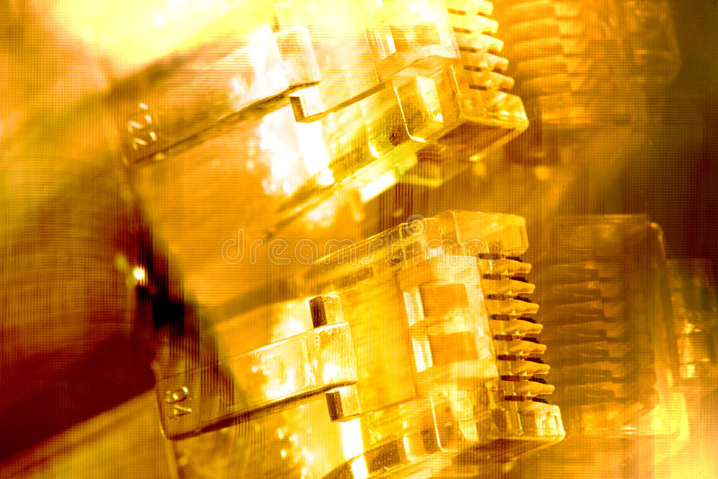 Ethernet-Seilzüge lizenzfreie stockfotografie