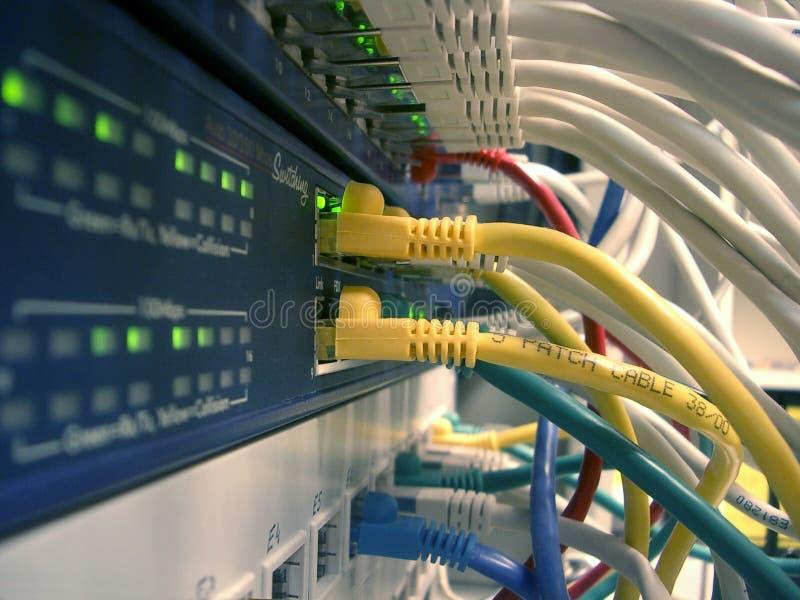 Ethernetnätverksströmbrytare arkivbild