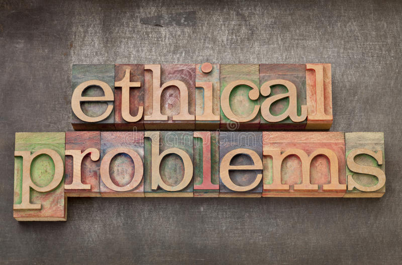 Download Ethical Problems In Wood Type Stock Image - Image: 25508585