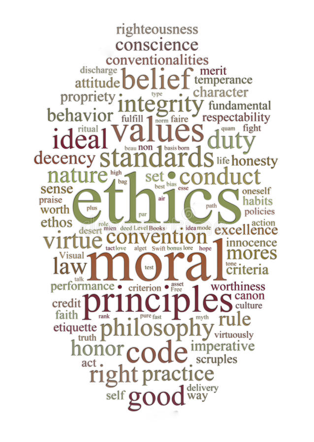 Free Ethics And Principles Word Cloud Royalty Free Stock Photo - 14444805
