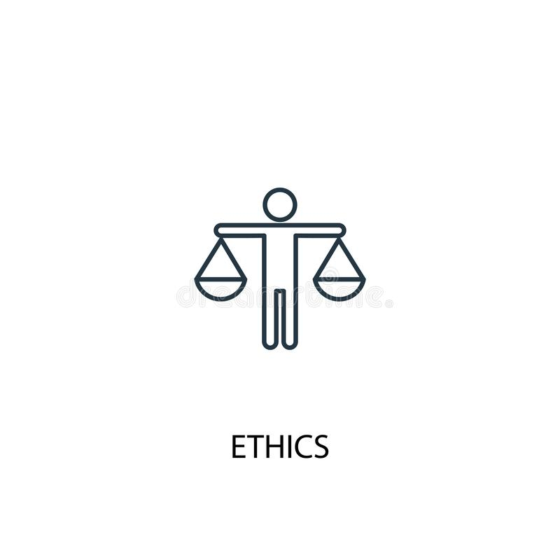 Ethics concept line icon. Simple element stock illustration