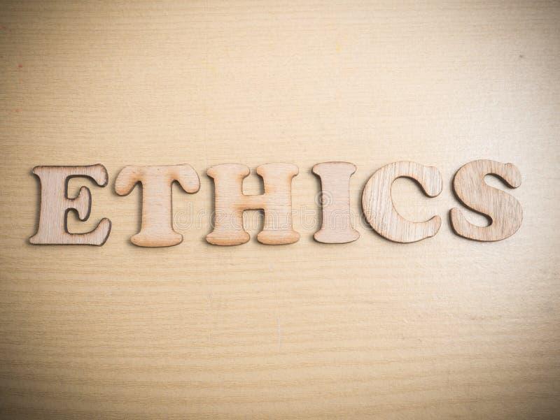 ethics Concepto de la tipografía de las palabras fotografía de archivo