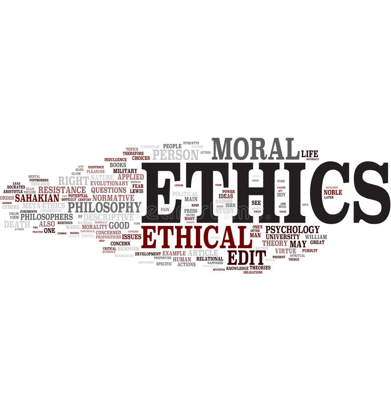 Ethics Word Cloud Royalty Free Stock Images
