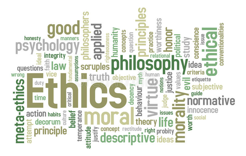 Download Ethics Word Cloud stock vector. Image of illustration - 17417990