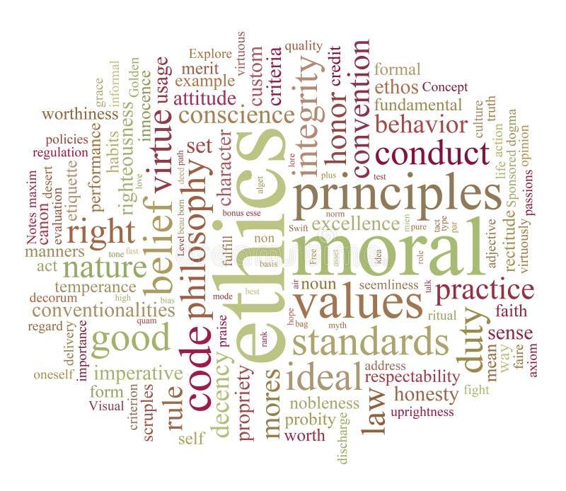 Ethiek en moreel stock illustratie