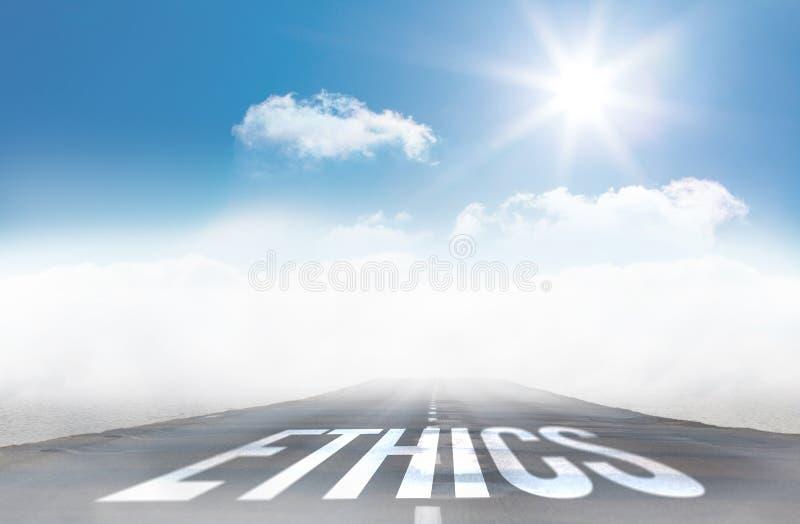Ethiek tegen open weg vector illustratie