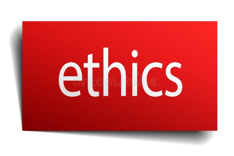 ethiekteken stock illustratie