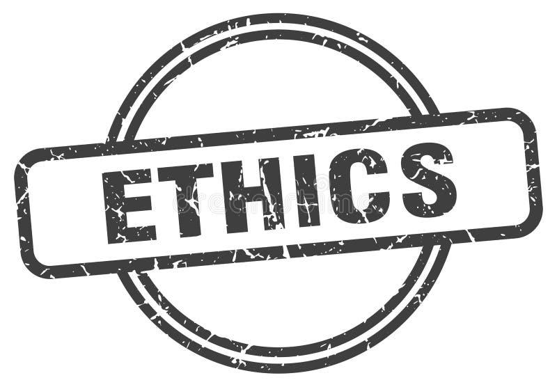 ethiekzegel vector illustratie
