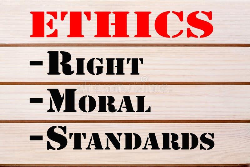 Ethik berichtigt moralische Standards stock abbildung