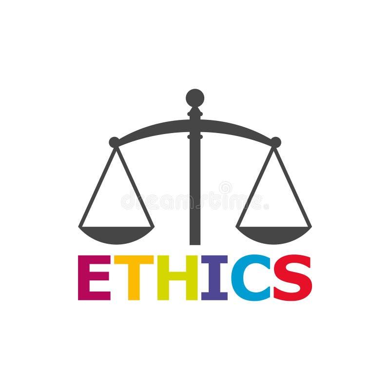 Ethik fasst, Ethik simst, Ethikikone oder Logo ab vektor abbildung