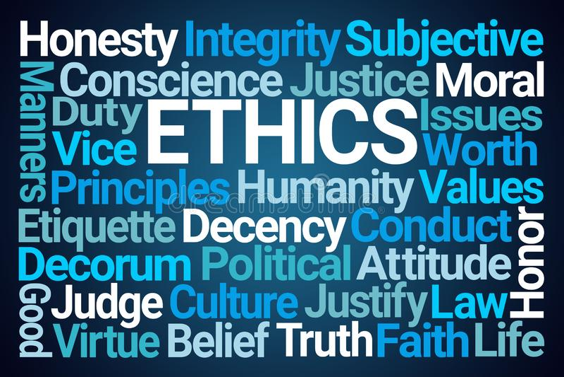 Ethik fasst Wolke ab lizenzfreie abbildung