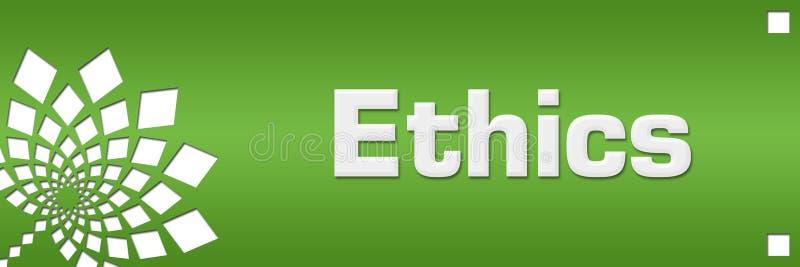 Ethik grünt Blumenlinks stock abbildung