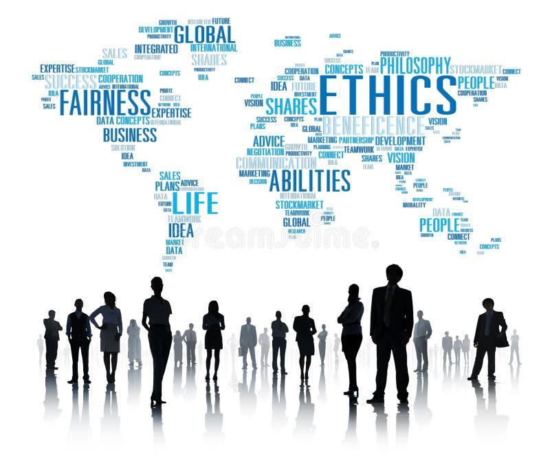 Ethik-Ideal-Prinzip-Moral-Standard-Konzept stock abbildung