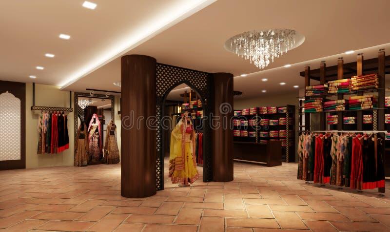 Download Ethinic Indian  Boutique stock illustration. Illustration of hanging - 51227983