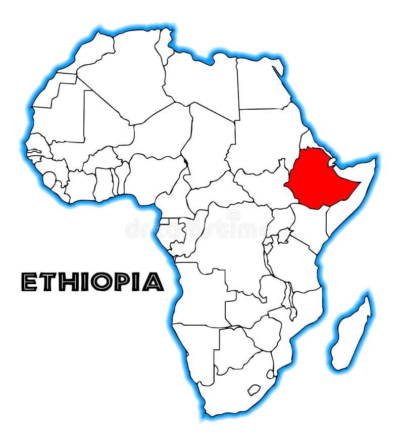 ethiopië stock illustratie