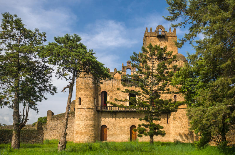 Ethiopië, het fort van Koning Fassilidas royalty-vrije stock fotografie