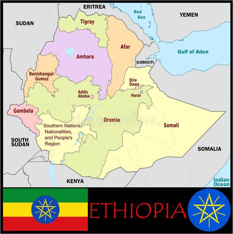 Ethiopia Administrative Divisions Stock Illustration Illustration