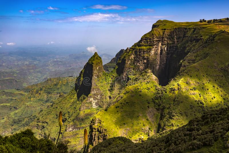 ethiopia berg simien royaltyfri bild