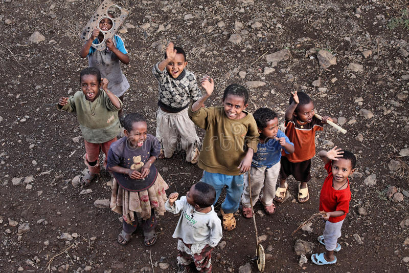 Ethiopia: Children and poverty royalty free stock images