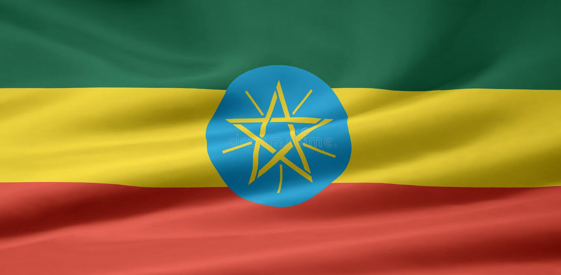 ethiopia flagę royalty ilustracja