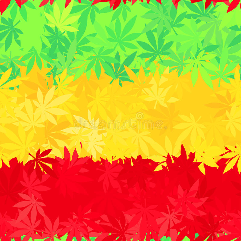 Ethiopia flag seamless pattern. Jamaica reggae stock illustration
