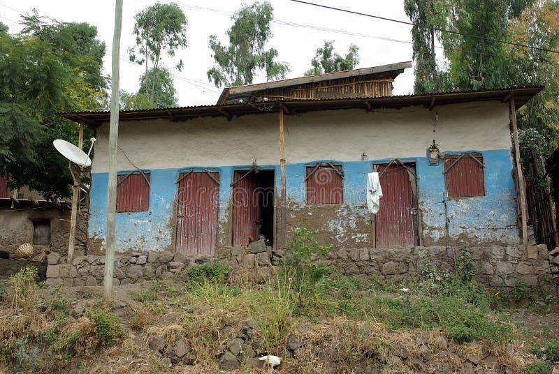 ethiopia huslalibela royaltyfria bilder