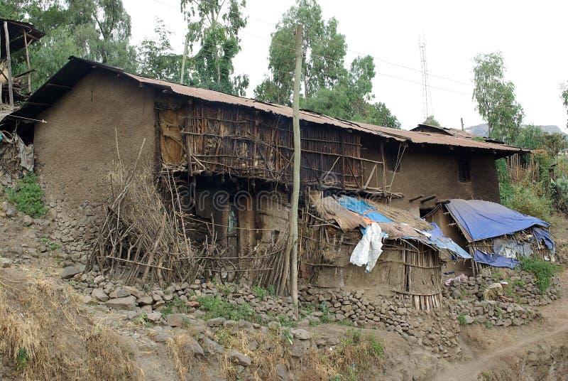 ethiopia huslalibela arkivfoto