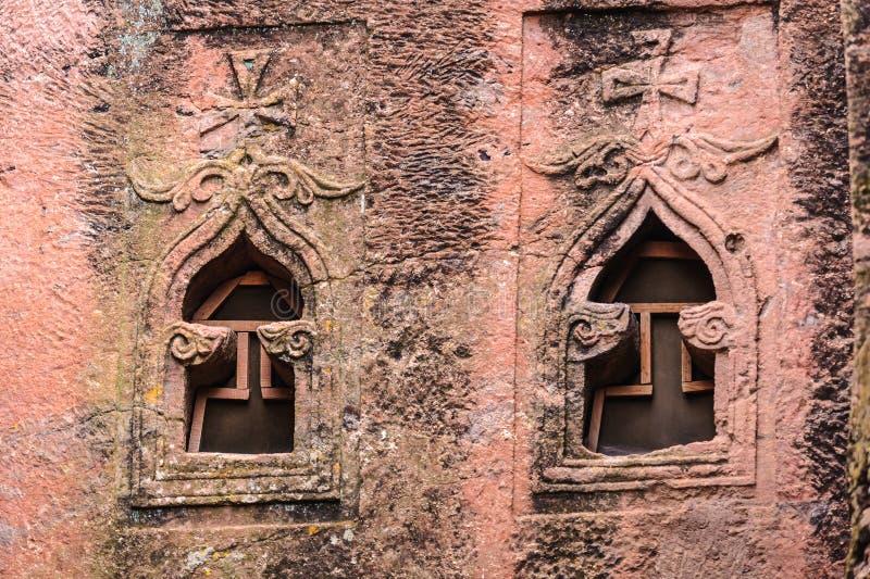 Ethiopia, Lalibela. Moniolitic rock cut church stock photography