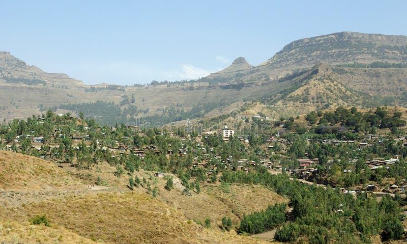 ethiopia lalibelasikt arkivbild