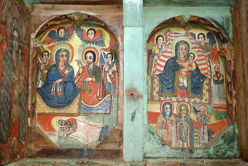 ethiopia målningar royaltyfria foton