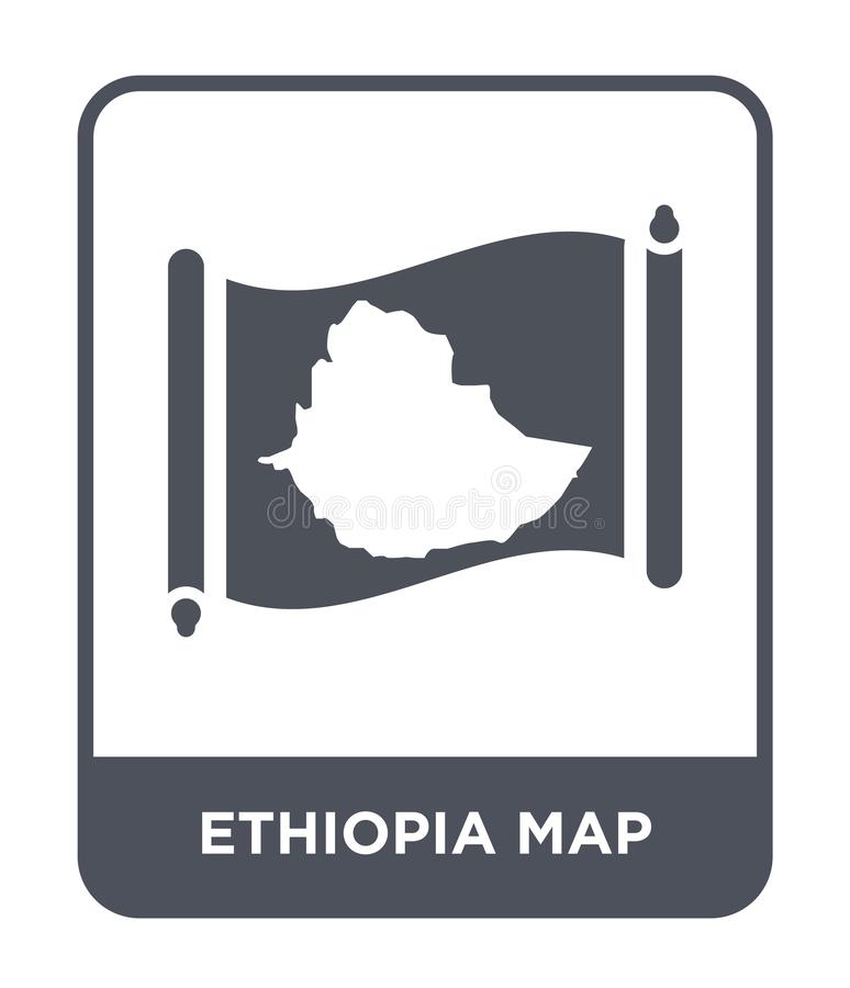 Ethiopia map icon in trendy design style. ethiopia map icon isolated on white background. ethiopia map vector icon simple and. Modern flat symbol for web site vector illustration