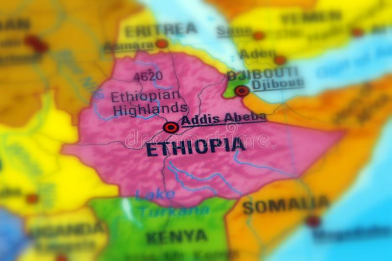 Federal Democratic Republic of Ethiopia. Ethiopia, officially the Federal Democratic Republic of Ethiopia royalty free stock photos