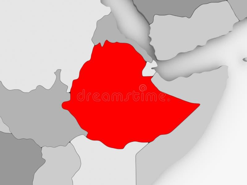 Map of Ethiopia stock illustration Illustration of illustration