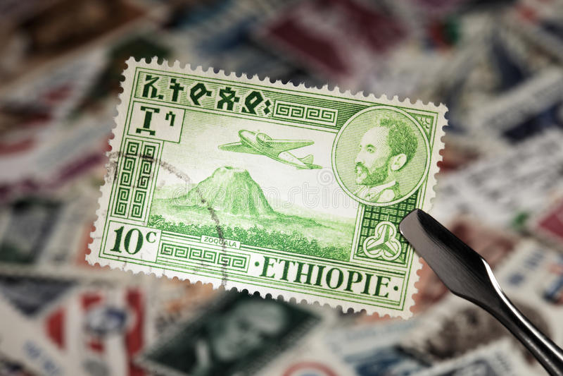 ethiopia stämpel royaltyfri fotografi