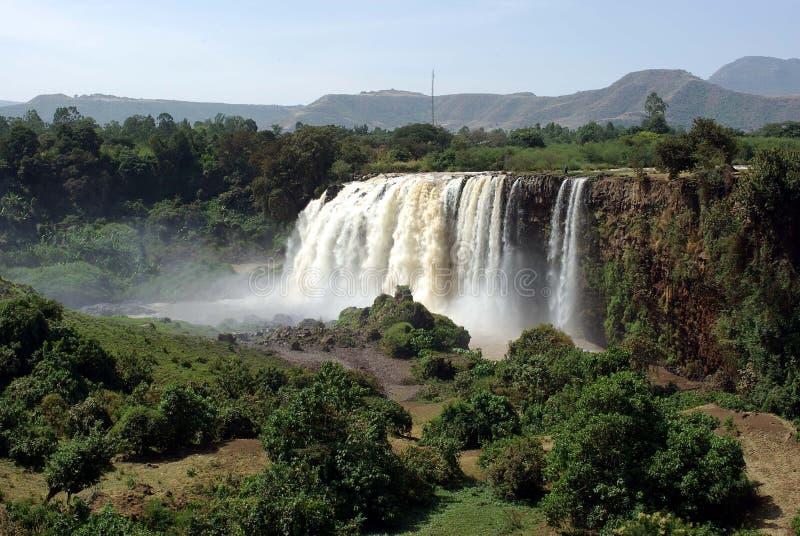 ethiopia vattenfall royaltyfria bilder