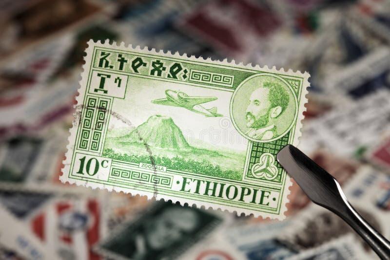ethiopia znaczek fotografia royalty free