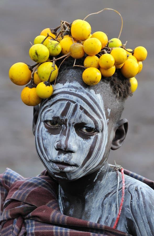 ethiopian barn royaltyfri bild