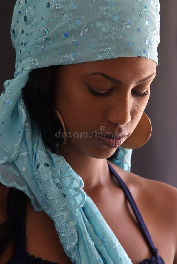 Ethiopian beautiful female royalty free stock photography