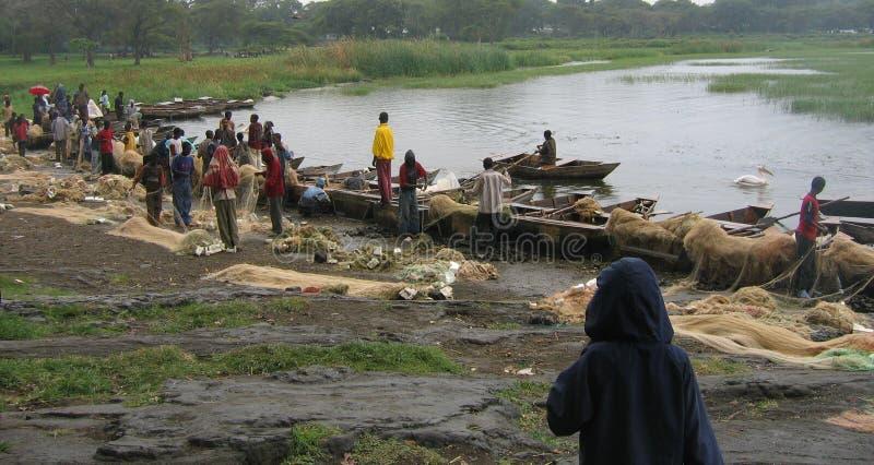 Ethiopian fishermen's stock photo