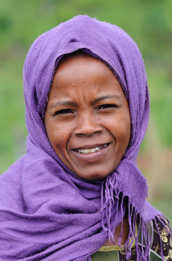 ethiopian flicka royaltyfri foto