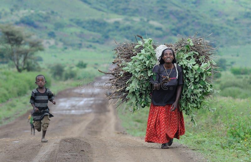 ethiopian folk royaltyfri fotografi